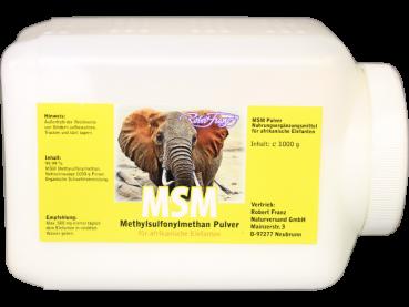 MSM Pulver für Afrikanische Elefanten, 1000g