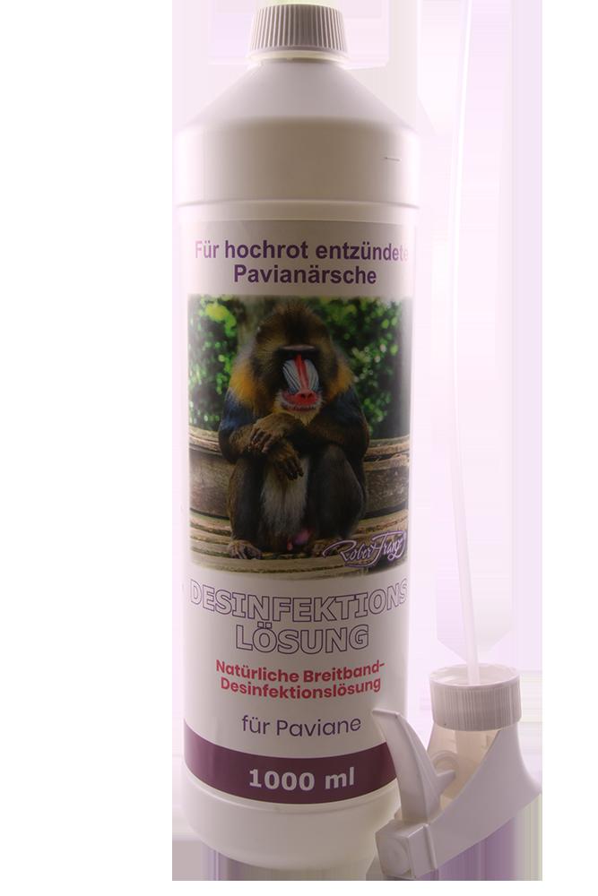 Desinfektionslösung – Natürliche Breitband-Desinfektionslösung – Für Paviane – 1000 ml